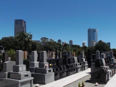 青山墓苑から見える風景