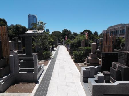 青山墓苑の通路