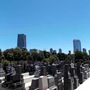 青山墓苑からの風景