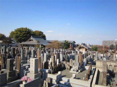 高西寺 墓地全景