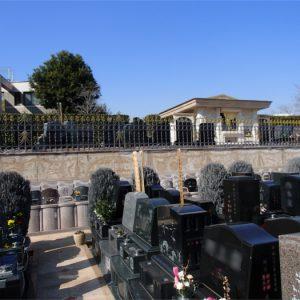 【聖和苑】2段構造の墓地
