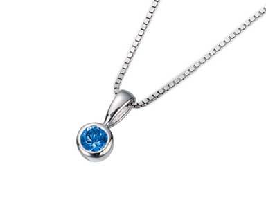 SpP002 Sapphire Pendant