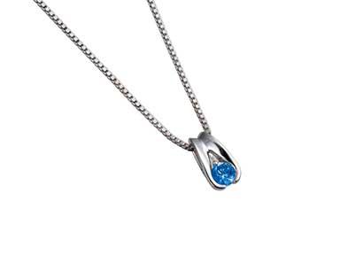 SpP006 Sapphire Pendant