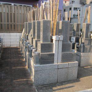 長耀寺の平坦墓地