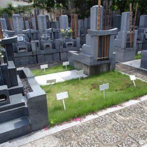 感通寺の墓地