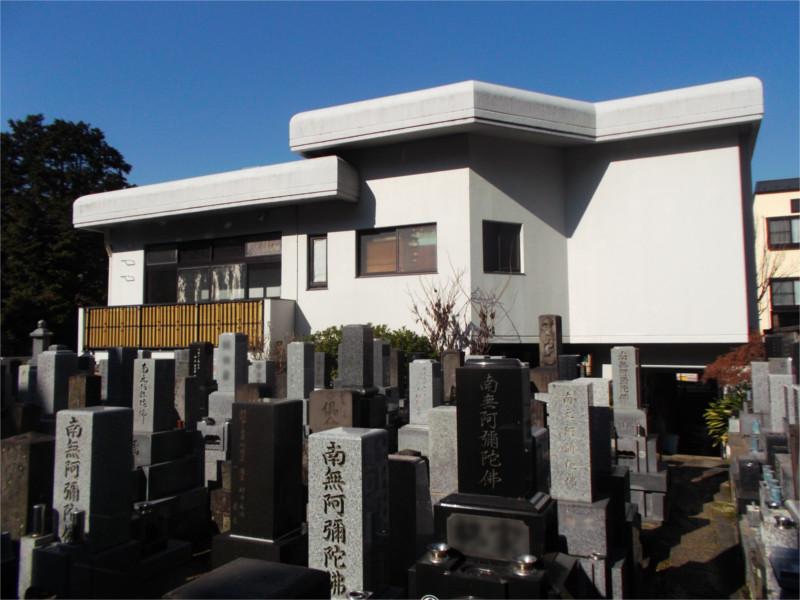 長嚴寺 墓域から見える本堂